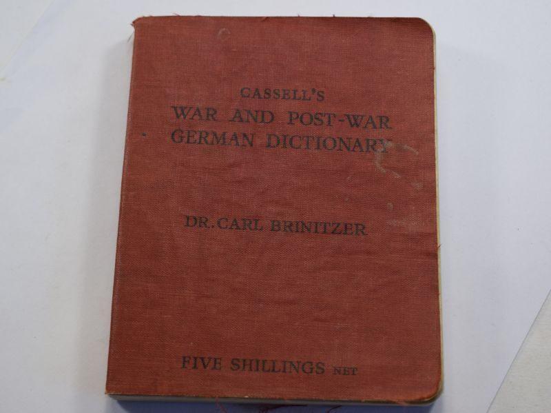 F Interesting Original War & Post-War German Dictionary Dated 1945