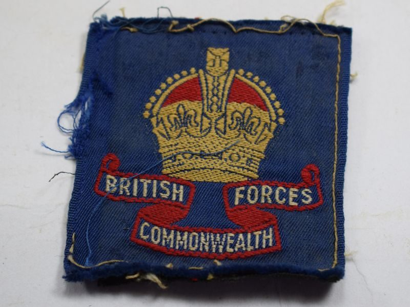 39 Original Post WW2 British Commonwealth Forces Cloth Badge