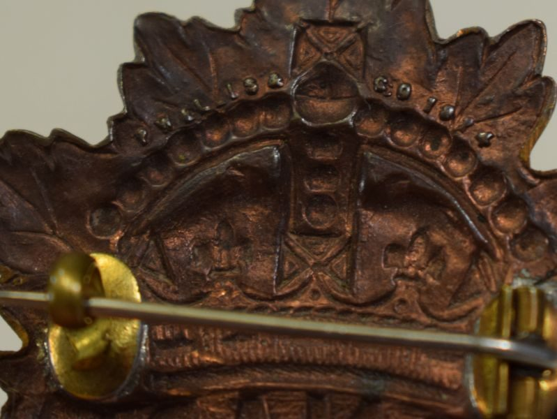 41 Nice Original 1914 Dated Canadian Cap Badge Converted to Sweetheart Brooch