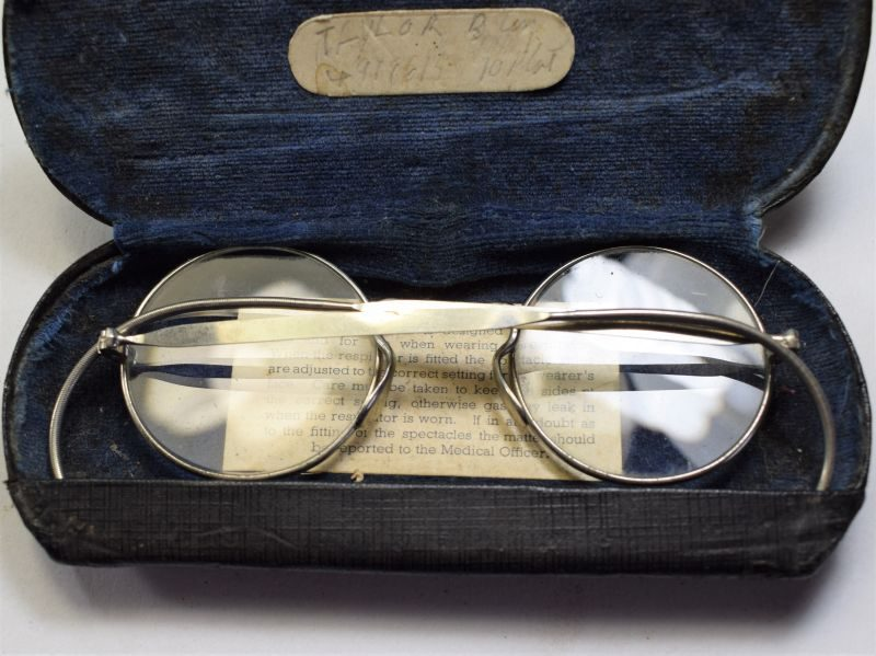 56 Original WW2 British Army Respirator Spectacles With Owners ID
