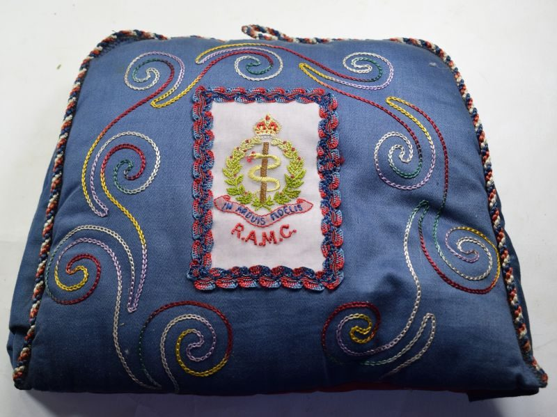 Excellent WW1 WW2 Sweetheart Gift Tea Cosy With RAMC Badge