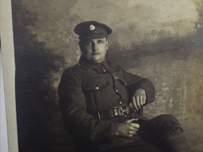 61 Interesting WW1 Studio Photograph of a British Soldier