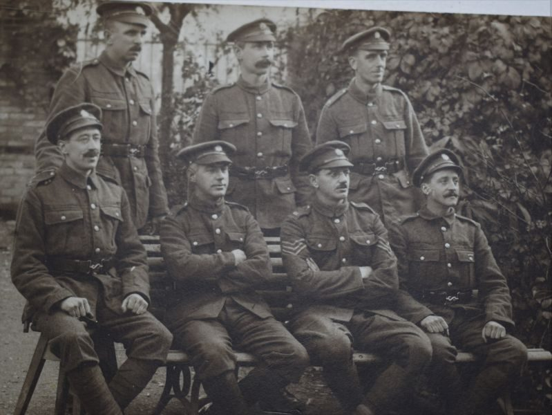 63 Interesting WW1 Group Photograph of 6 British Soldiers