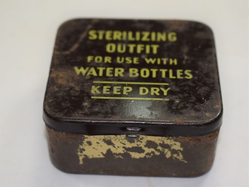WW2 & Post War British Army & RAF Issue Water Bottle Sterilizing Outfit, Complete