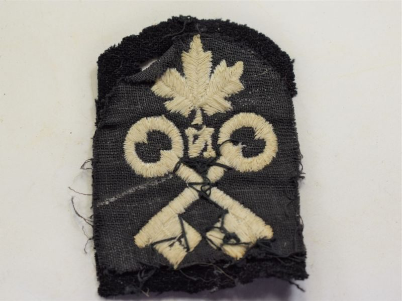 65 Unidentified Royal Canadian Navy Cloth Trade Badge WW2?