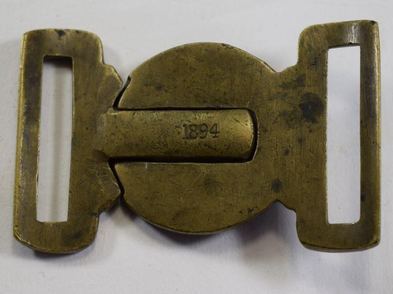 2 Original British Army General Service Belt Buckle Dated 1894