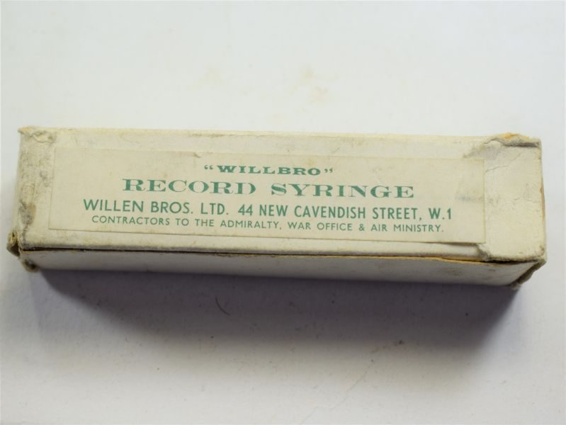 70 WW2 British Military Medical Syringe Un-Issued & In Box of Issue
