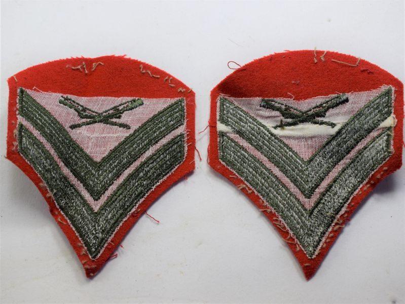 76 Original WW2? USMC Cloth Rank Insignia to a Corporal