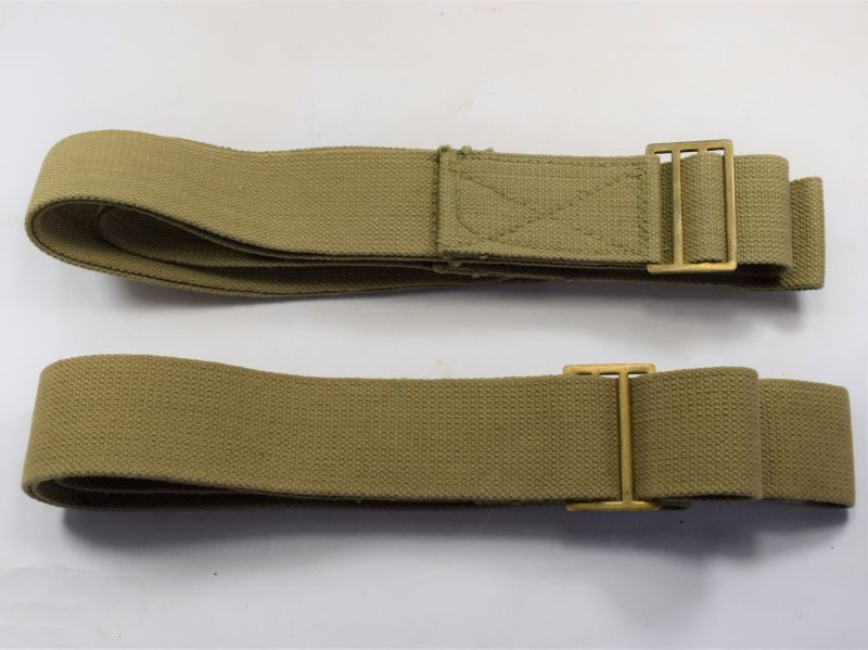 Original Matching Pair of WW2 British Army Stretcher Carrying Straps 1944