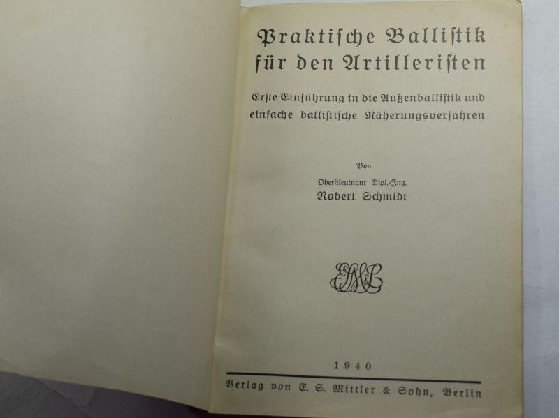 84 WW2 German Artillery Booklet Praktische Ballistik fur den Artilleristen 1940