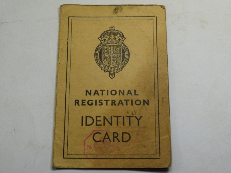 85 Original Early WW2 British NR Identity Card J.T.Adams Stockport Cheshire