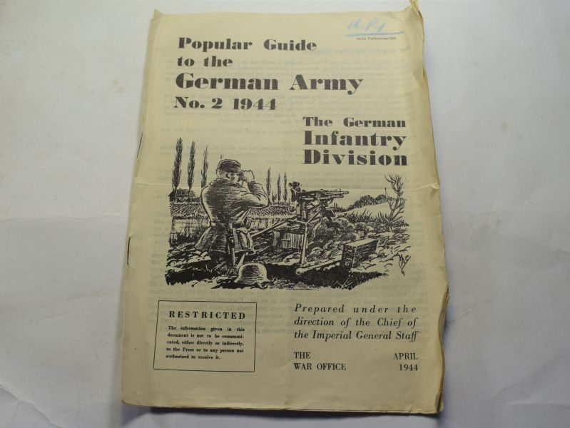 88 Original Large WW2 British Popular Guide German Army No2 Infantry Division