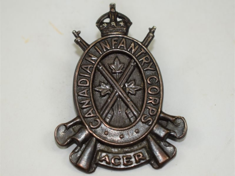 9 Original WW2 Canadian Infantry Corps ACER Cap Badge