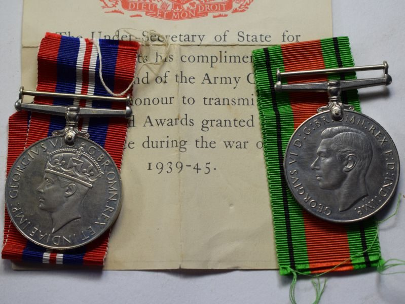 Original Medal Pair to a Miss G.E.Lyons of Liverpool