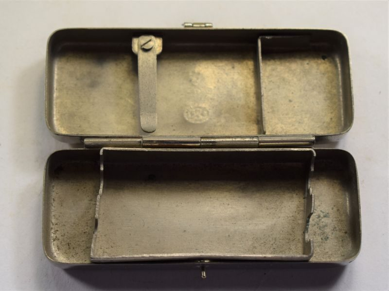 Original WW1 British Army Medics Syringe Box Dated 1915