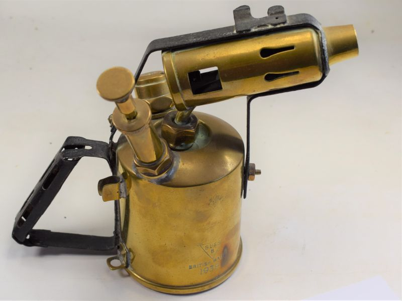 WW2 Hand Held Brass Blow Torch Dated 1939