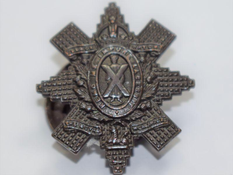 18 Original WW1 WW2 Bronze Lapel Badge To The Black Watch