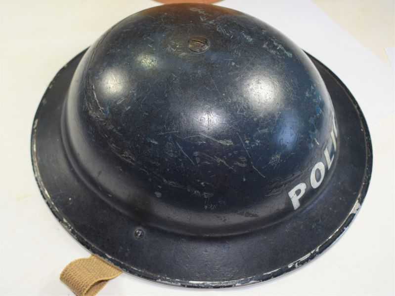 Good Original WW2 British Police Mans Steel Tommy Helmet 1939