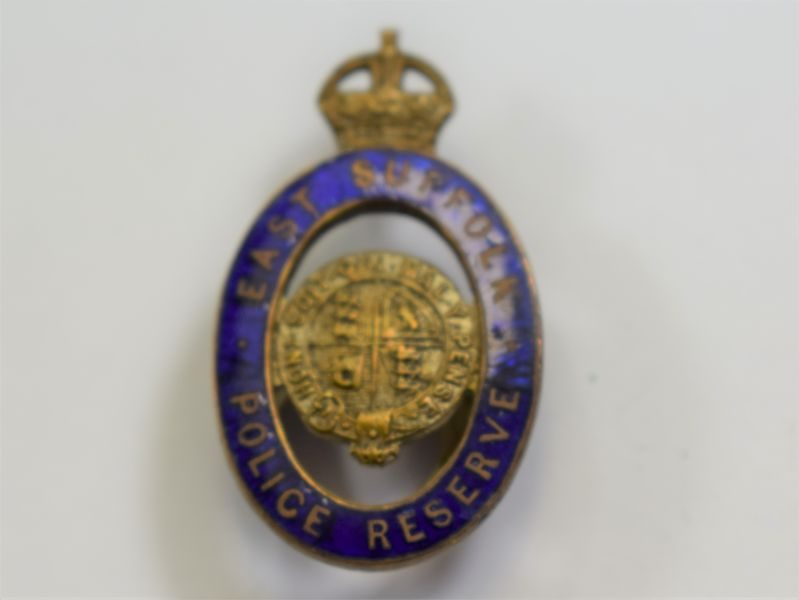 22 Lovely Original WW1 East Suffolk Police Reserve Lapel Badge