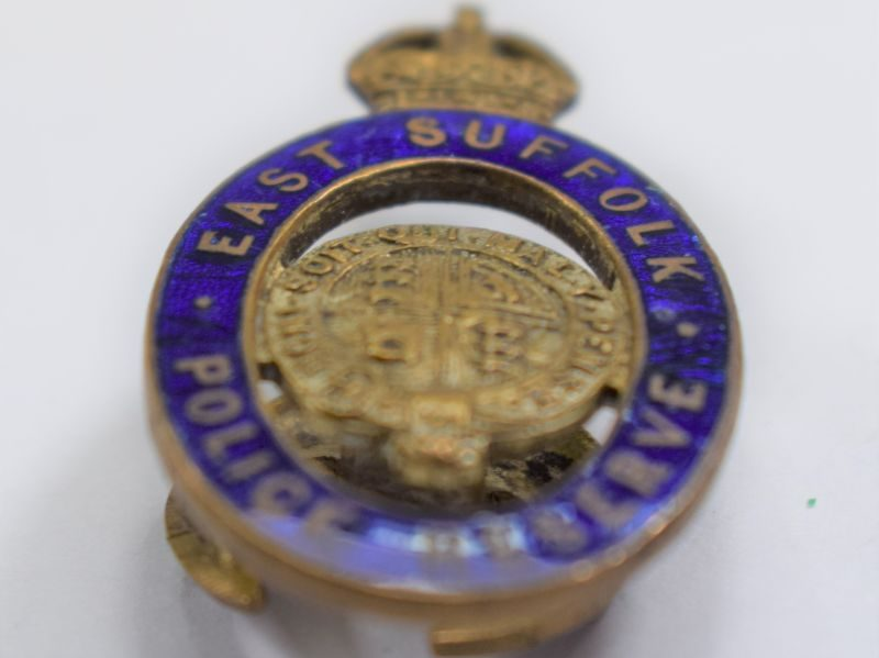 22 Lovely Original WW1 East Suffolk Police Reserve Lapel Badge