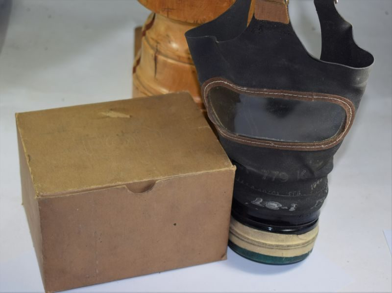 WW2 British Civilian Respirator in Correct Issue Card Box
