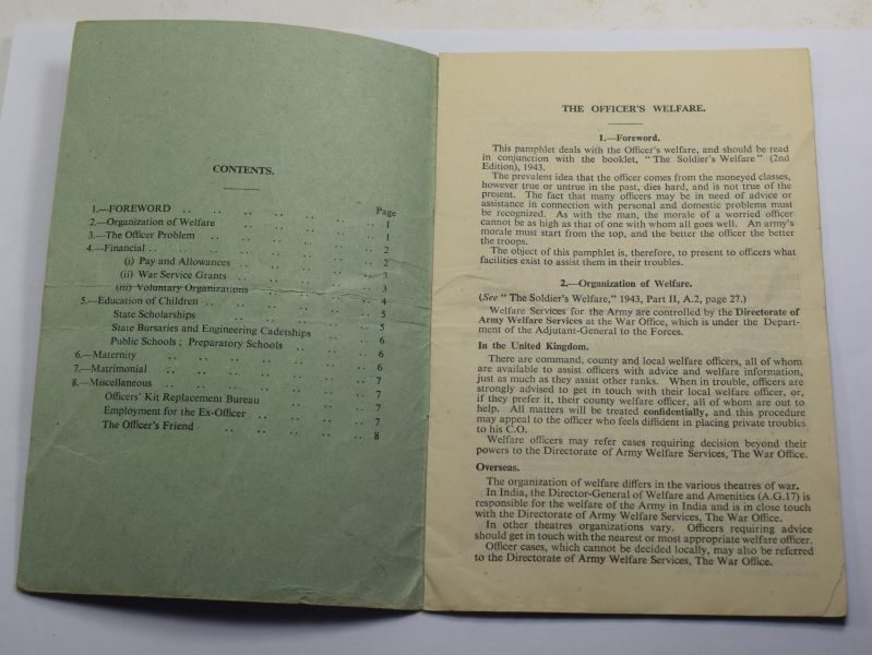 29 Original WW2 Pamphlet The Officer's Welfare 1944