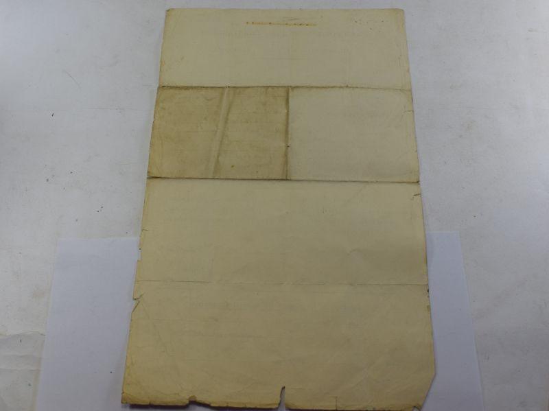 94 Interesting WW2 Metropolitan Police Claim Sheet For Unscreened Light