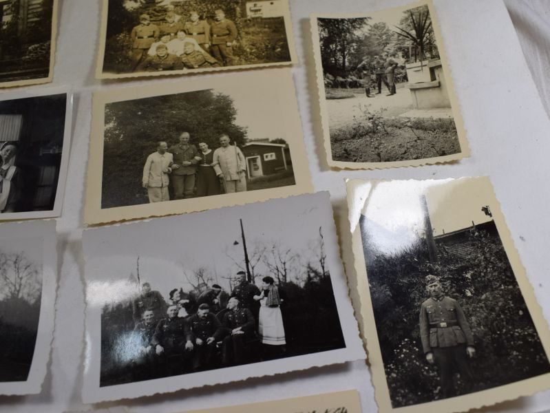 Interesting Set of 34 Original WW2 German Army Soldiers Personal Photographs