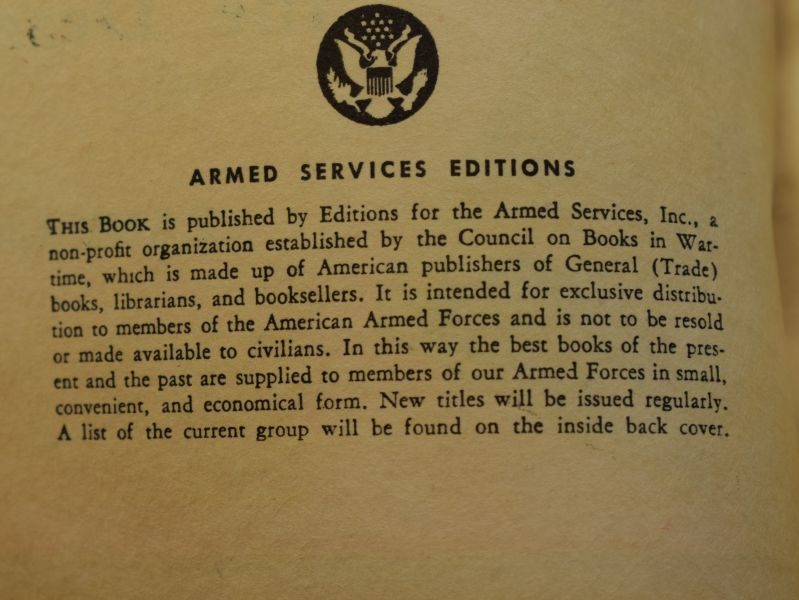 95 WW2 US Armed Forces Edition Book The Heritage of the Desert 1938