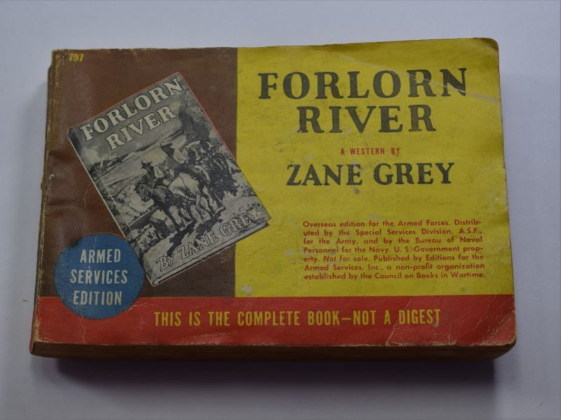 96 WW2 US Armed Forces Edition Book Forlorn River 1927