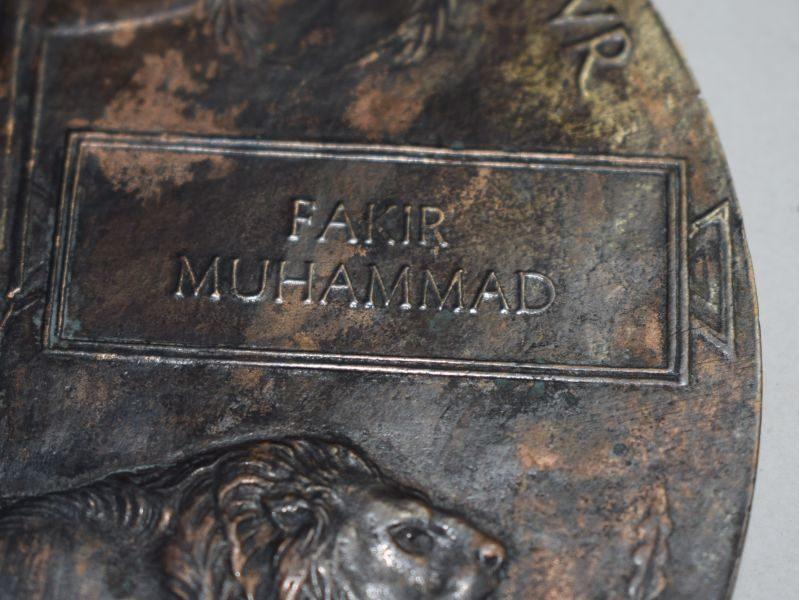 11 Original WW1 British Army Memorial Plaque/Death Penny to Fakir Muhammad