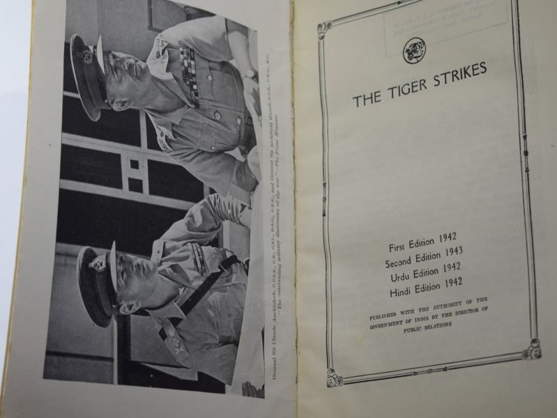 Original Book The Tiger Strikes, India's Fight in the Middle East 1943