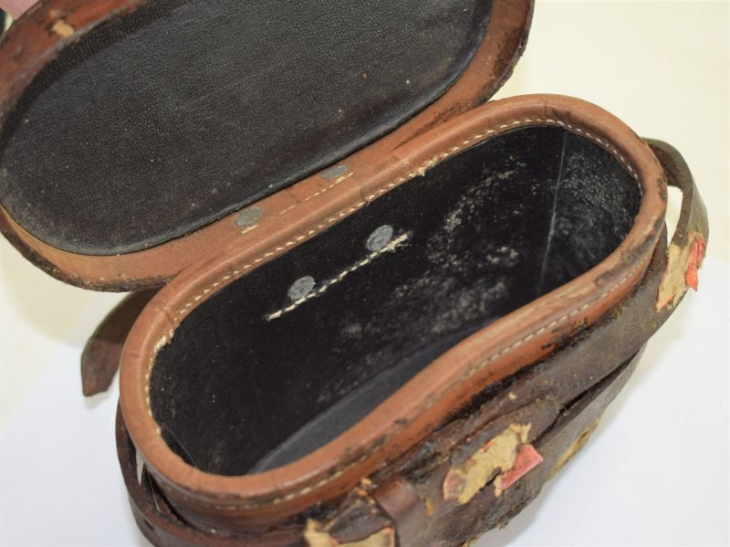 WW2 British Army Para Issue Galilean Binoculars & Leather Case