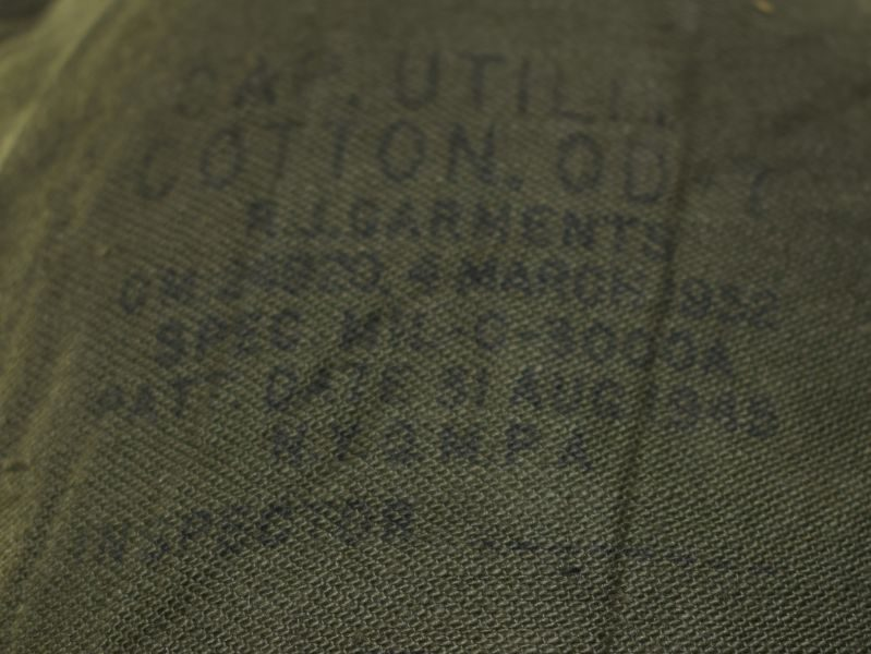 WW2 Pat US Army M1943 Pattern Peaked Cap Utility Cotton OD7