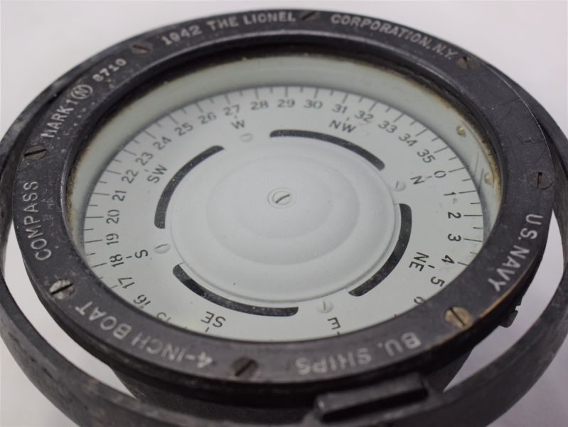 Excellent Small US Navy BU Ships 4-Inch Boat Compass Mark I Dated 1942