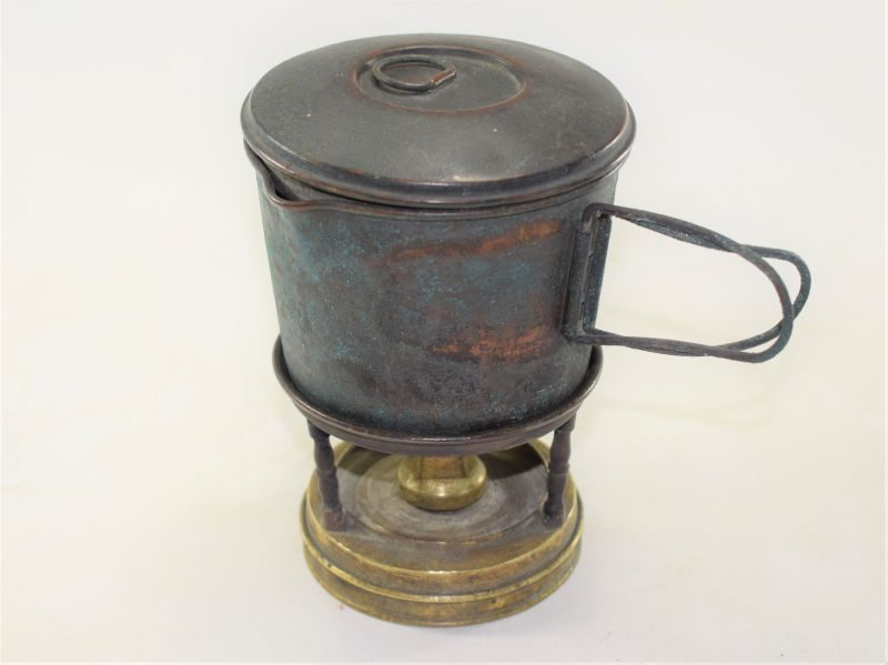 WW1 French, British Officers Portable Stove & Cooking Pot