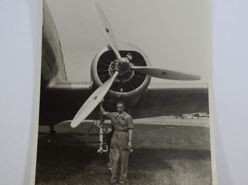 73 Original WW2 German Photo Luftwaffe Pilot, Mechanic? By Aircraft. Dated 1939