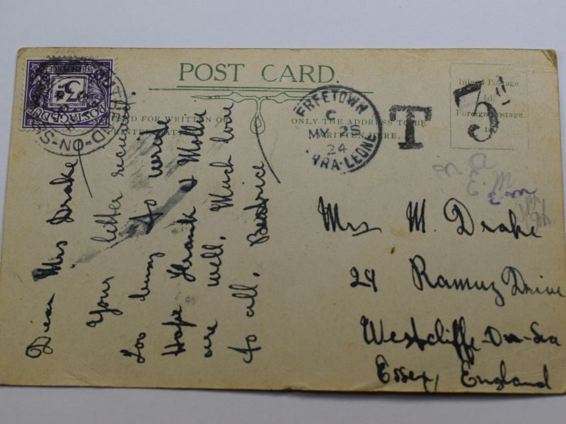 76 Postage Dated 1924 Band of West African regiment Sierra Leone