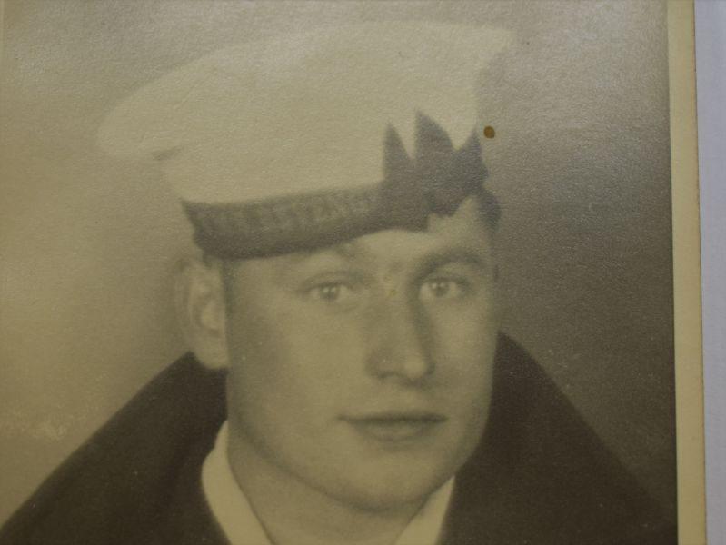 78 Original WW1 WW2 Portrait Photo of Royal Navy Rating HMS Revenge