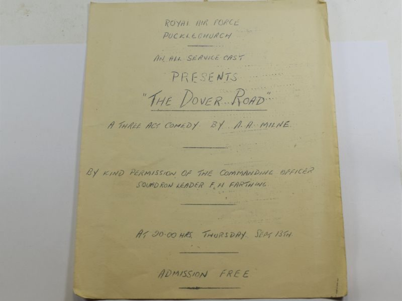 80 Original RAF Pucklechurch Comedy Play Program The Dover Road