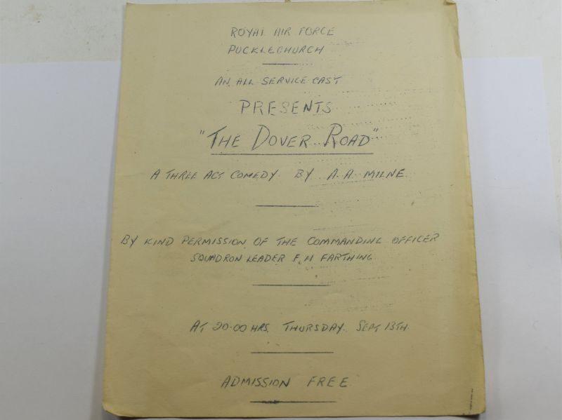 80 Original RAF Pucklechurch Comedy Play Program The Dover Road