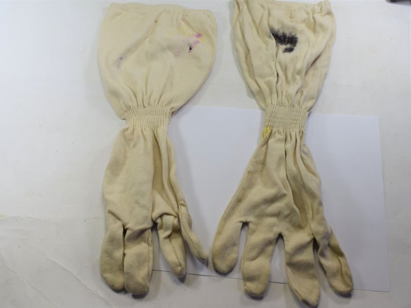WW2-1950s Royal Navy Anti-Flash Gloves Gunners Fireproofed Gloves