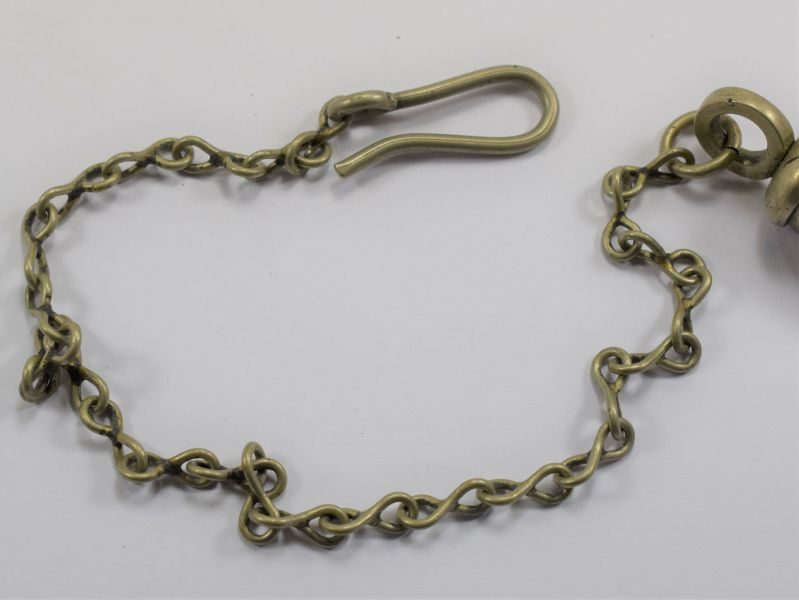 82 Early British Police Mans Tube Whistle The Metropolitan With Hanging Chain