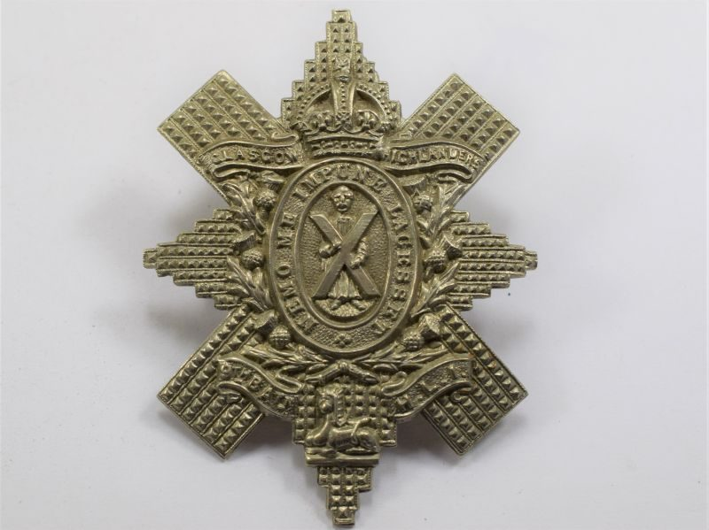 85 Original WW1 Cap Badge Glasgow Highlanders 9th Battalion HLI