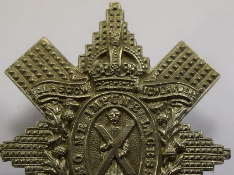 85 Original WW1 Cap Badge Glasgow Highlanders 9th Battalion HLI