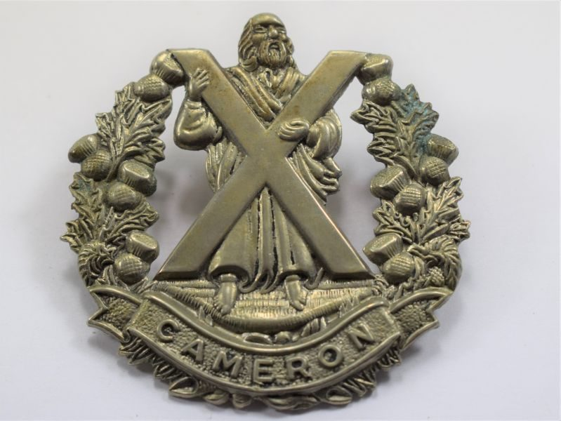88 Original WW1 WW2 Cap Badge Cameron Highlanders