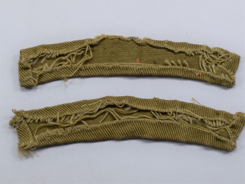 89 Original WW2 Home Guard Printed Shoulder Title Pair