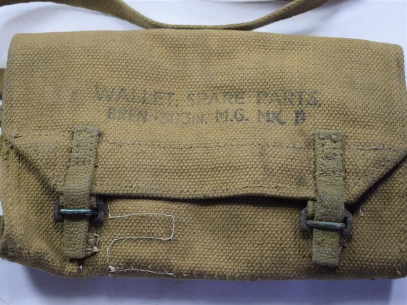 Excellent Original WW2 British Bren MKII Spare Parts Wallet 1945