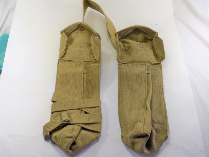 WW2 British Utility Pouch Set Supplementary Ammo Pouches MECo 1940