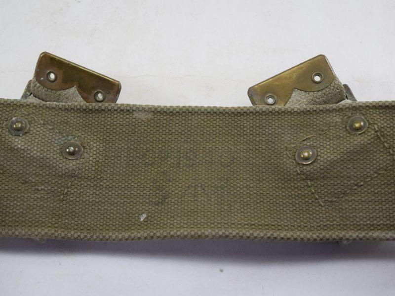 Good Original British Royal Navy Issue 1908 Pattern Webbing Waist Belt MECo 1940